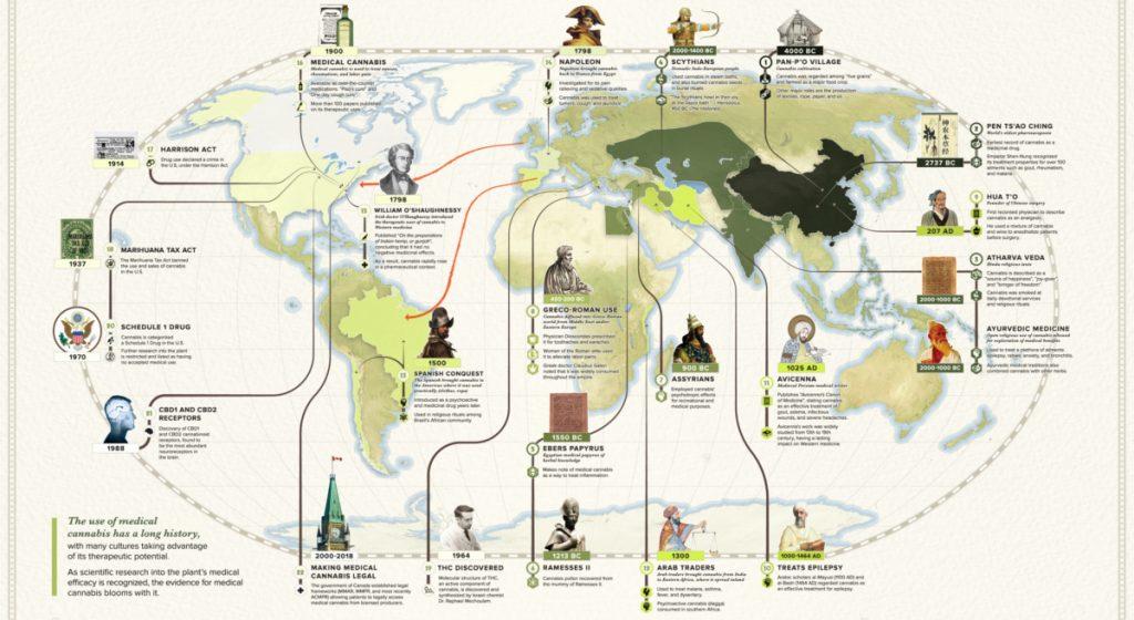 Cannabis History map