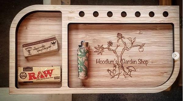 Wooden Rolling Tray Farty Flea
